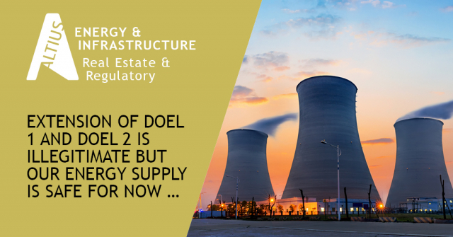 Extension of Doel 1 and Doel 2 is illegitimate but our energy supply is safe for now …