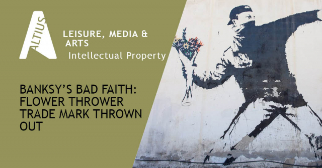 Banksy's bad faith: Flower Thrower trade mark thrown out