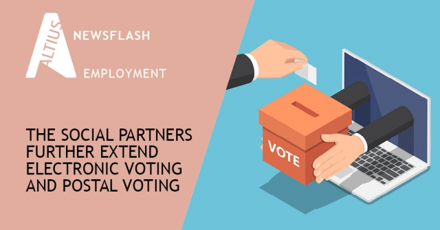 The social partners have agreed to continue with the social elections and to further extend the opportunities for electronic voting and postal voting