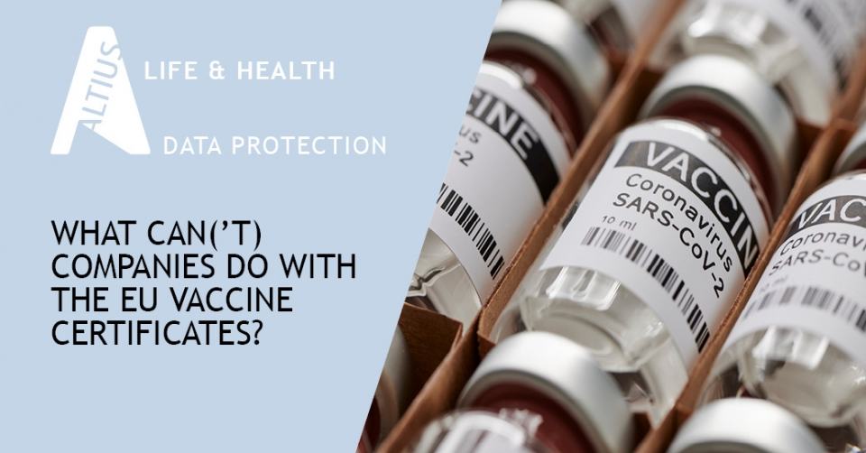 What can('t) companies do with the EU vaccine certificates?